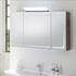 Solitaire 7005 2/3 Door Mirror Cabinet LED lights in mirror