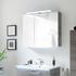 Solitaire 9020 Bathroom Mirrored cabinet incl. LED 2 mirrored doors - 178311