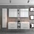 SONIX DOUBLE VANITY BATHROOM SUITE WHITE Luxurious