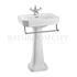 Contemporary Basin 58cm and Pedestal - 178069