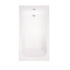 modern rectangle Trojancast County 1700 x 700 Bath White single ended bath