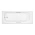 quality round Trojan Granada 2 1675mm 5mm Twin Grip Bath White 2TH