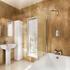 Two Fold Bifold Bath Screen With Panel