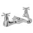 deluxe Modern CHROME Deck Mounted Bath tap  With a featured Standard spout And a cross head Handle
