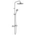 Velo Thermostatic Bathroom Shower Valve with Integrated Diverter, Round Head