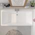 White Jumbo Double Ended Bath with Waste and Over-Flow Hole in The Middle
