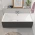 Vernwy Double Ended Bath with Anthracite Bath Panels