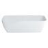 Vicenza Grande Clear Stone Freestanding Stylish White Bath