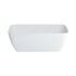 Vicenza Petite Clear Stone Freestanding Elegant White Bath