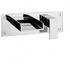 Water Sq Bath 2 Hole Filler Wall Mounted Brilliant lever standard Bath Taps