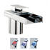 Designer CHROME waterfall Basin tap With a lever Handle
