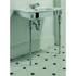 Westminster Vanity Basin 685mm White With Westminster Basin Stand Chrome Ellegant