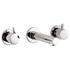 Zoo 3 Hole Basin Mixer Bathroom knob spout Taps