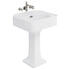 Arcade Modern Classic Design 600mm Basin And Pedestal