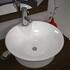 Ario White Round Stylish Worktop Counter Top Bathroom  Wash Basin