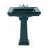 Astoria Deco Small Basin 520mm Black With Small Pedestal Straight High Quality Bathroom Design