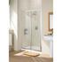 Bathroom Shower Door Silver Framed Slider Modern