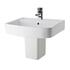 Bliss 520mm Bathroom Ceramic Wash Basin and Semi Pedestal
