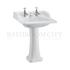 straight Classic Basin for Integrated Waste & Overflow 65cm 2TH And Ped option of 2 tap hole