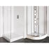Designer curved and straight white tray plinths