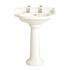 Dorchester Standard Traditional Design White Basin And Pedestal