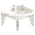 Dorchester Traditional Design White Wash Basin Corner 2 With Tap Holes And Choice Of Brackets