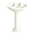 Dorchester Easy To Install White Standard Basin And Tall Pedestal