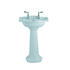 Drift Classic Design Small Wash Basin 540mm White Finish With Full Pedestal Easy To Install