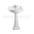 straight Edwardian Round  Basin 56cm and Regal Pedestal option of 1,2,3 tap hole