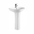 curved Freya 550 Basin and Pedestal option of 1 tap hole