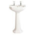Granley Deco White Contemporary Classic Design Cloakroom and Bathroom Wash Basin 2TH And Tall Pedestal