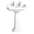 Granley High Quality Traditional Design White Bathroom Basin Standard And Pedestal