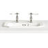 Granley White Basin Tapledge Inset 3 Tap Hole Fully Recessed for Contemporary Bathroom