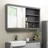 MIRROR CABINET WITH OPEN SHELVES