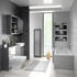 Grove 1500 Shower Bath Suite Platinum Grey - 179254