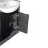 Hacienda 1200  Vanity Unit Black - 17405