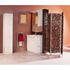 High gloss wall hung white mirror cabinet and pelmet