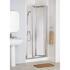 Lakes Heigh Quality Silver Framed Bi-fold Shower Door Luxurious Stylish Bathroom Accessory