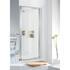 Lakes Pivot Framed White Shower Door Modern