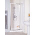 Quality Lakes Reduced Height 900x1750 Semi Framed Bi Fold  Shower Door Silver Designer