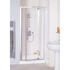 Lakes Semi Framed Pivot Door 700 Silver Shower Enclosure High Quality