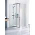 Lakes Silver Framed Shower Door Side Panel Fashionable Bathroom