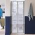 Lakes Silver Semi Framed Bifold Door 900 X 1850 Shower Enclosure Fashionable Stylish Bathroom Accessory