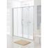 Lakes Silver Semi Framed Double Slider Bathroom Shower Door