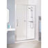 Lakes Silver Semi Framed Slider Bathroom Shower Door