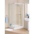 Lakes Space Saver Silver Framed Corner Entry Shower Enclosure Modern Stylish Bathroom Accessory