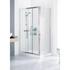 Lakes White Framed Shower Door Side Panel Ellegant Bathroom