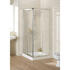 Lakes White Semi Framed Corner Entry Compact Shower Enclosure Fashionable Stylish Bathroom Accessory