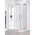 Lakes White Semi Framed Offset Quadrant Shower Cubicle High Quality Bathroom