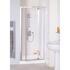 Lakes White Semi Framed Pivot Shower Door